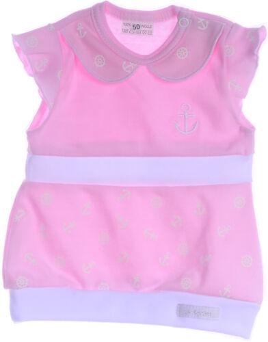 Babykleid Kleid Pumpkleid Rosa Weiß Navi Maritime Look 50-104 Baby Kleidchen