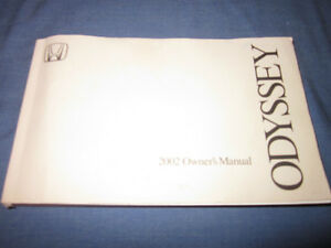 2002 honda odyssey owners manual owner s ex v6 minivan ebay rh ebay com Honda Odyssey Interior 2002 honda odyssey owners manual pdf
