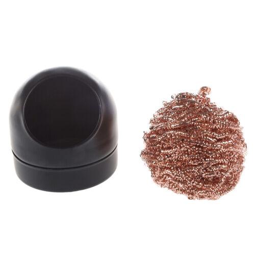 Loetkolben-Spitze Reinigungsdraht Duesenreiniger Ball w Lagerung Inhaber Q5Z6