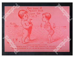 Historic-Mellin-039-s-Food-Advertising-Postcard