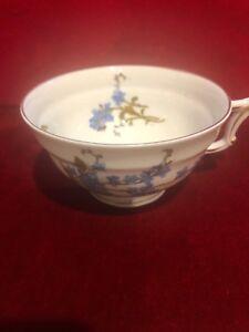 Vintage-Haviland-Limoges-Montmery-Blue-Forget-Me-Nots-Tea-Cup-Replacement