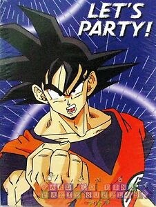 DRAGON BALL Z INVITATIONS 8 Anime Birthday Party Supplies