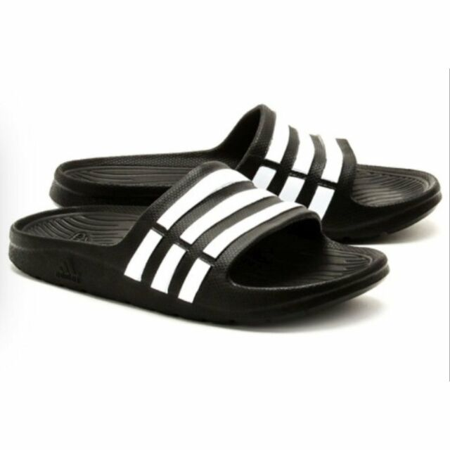 5850476f72aabb adidas Duramo Slide K Black White Youth Girls Womens Slippers Sandals G06799  6 for sale online