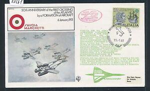 """03261) Ba Concorde"""" 50th Ann. Atlantic Crossing Italie 170 L 15.7.81-afficher Le Titre D'origine AgréAble Au Palais"""