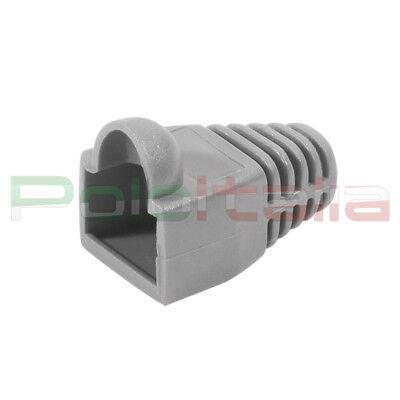 100x Copriconnettore Gommino Per Plug Cavo Di Rete Ethernet Rj45 Lan 8p8c Grigio