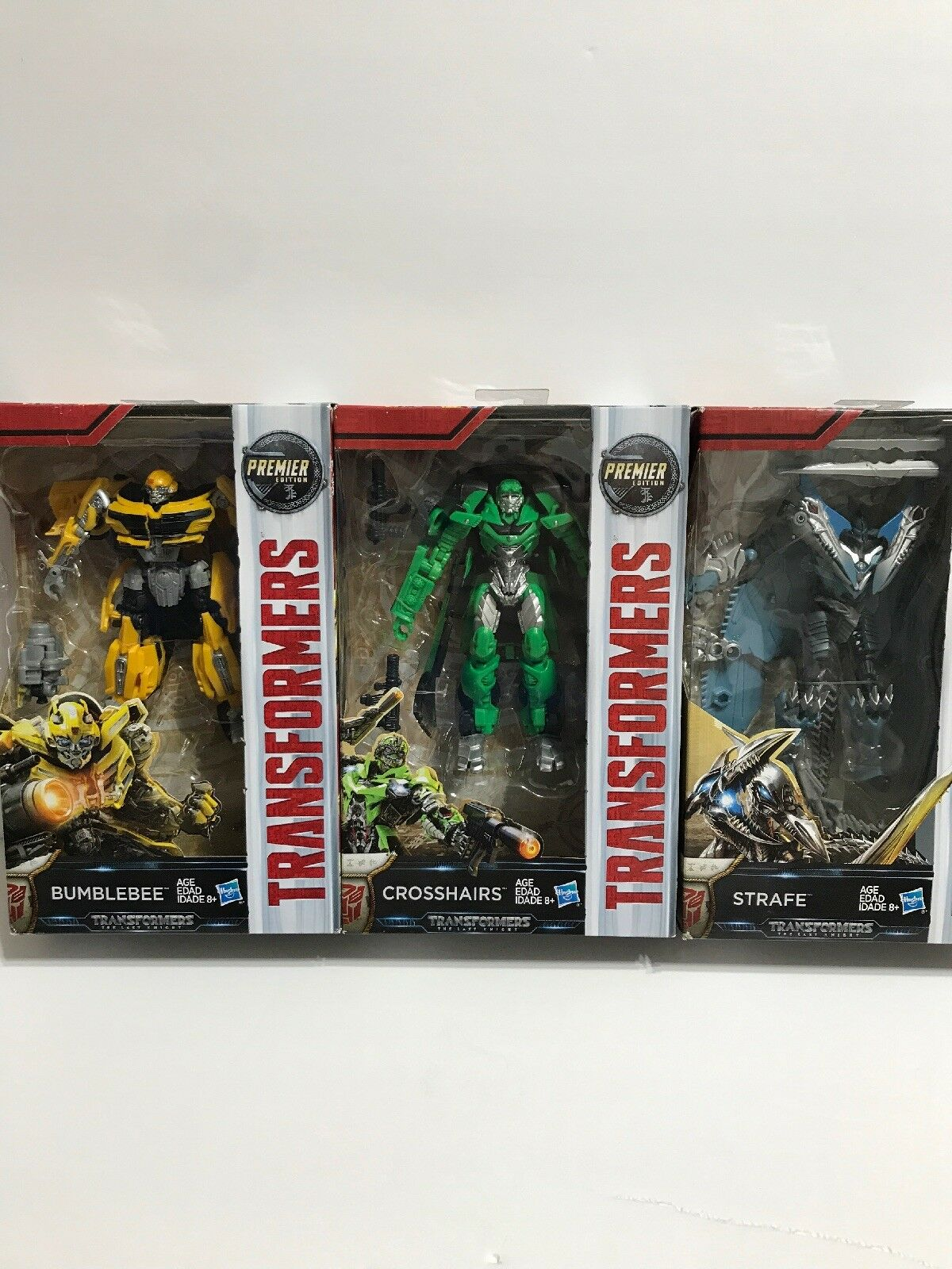 HASBRO TRANSFORMERS MV5The Last Knight Lot Of 3 Bumblebee Strafe Crosshairs 6in