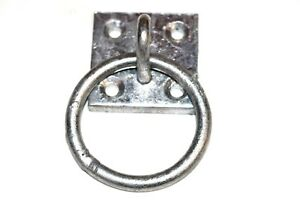"2/"" x 2/"" Heavy Duty. Ring//Hook//Staple On Plate Galvanised 50mm x 50mm"