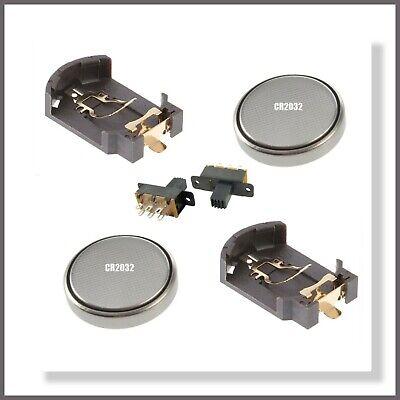 10pcs Lithium Cell Battery Holder 2xCR2032 ON//OFF Switch Li-Ion 2x3V 6V