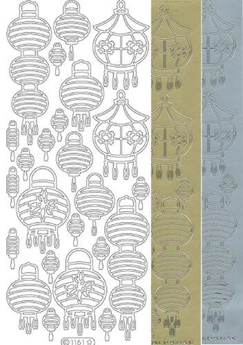 Starform Outline Stickers 1161 Monde Lampion Asie Asia Auto-collants Peel offs