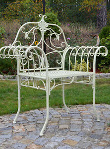 Jardin Fer Chaise Style Ancien Fauteuil Metal Mobilier Forge ...