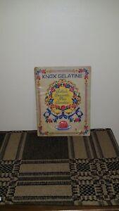 1943 Knox Gelatine Vintage Cookbook, Salads Desserts Pies Candies, Gelatin
