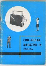 CINE-KODAK MAGAZINE 16 CAMERA MANUAL