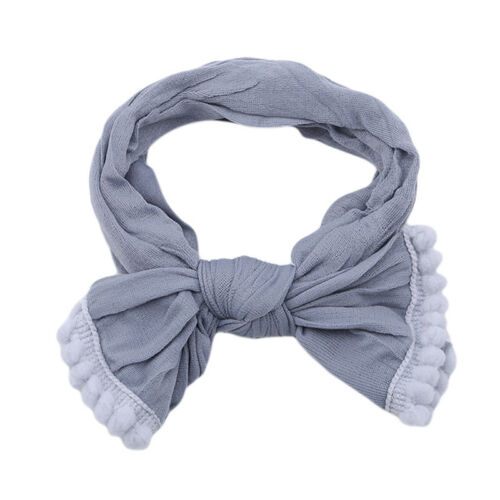 Fashion Girls Bow Tie Headbands Children Elastic Turban Head Hair Wrap CB