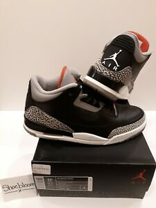 d3fa1338717 Image is loading Jordan-III-3-OG-Black-Cement-Size-11-