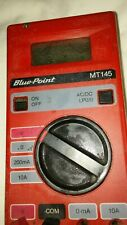 Blue Point Mt145 Multimeter Red Face And Black Back Acdc Voltage