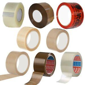 Klebeband Paketband Transparent Braun Tesa Vorsicht Glas bedruckt leise Band