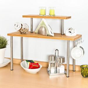 Bremermann Mensola da Cucina Bambù e Acciaio Inox con Gancio | eBay
