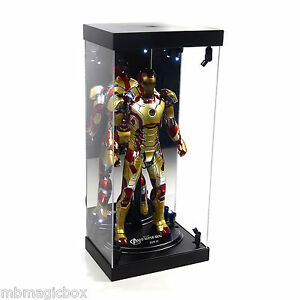 Acrylic Display Case Led Light Box For 12 1 6th Scale Hot Toys Iron