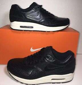 nike air max 1 black leather