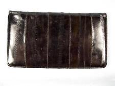 Shiny Black With Streaks Of Dark Brown Faux Leather Or Vinyl Wallet Korea (O)
