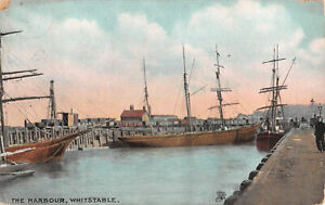 R334536 The Harbour. Whitstable. Chromette View Postcard