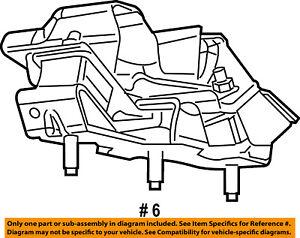 chrysler oem engine motor mount torque strut 52121938ad ebay rh ebay com 3.8L V6 Engine Diagram Mitsubishi 3.0 V6 Engine Diagram