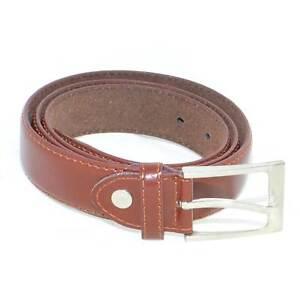 Cintura uomo elegante art:945534 vera pelle cuoio linea basic stampato monocromo