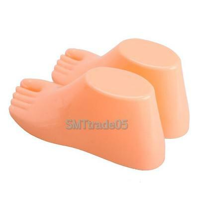 1Pair of Hard Plastic Children Feet Mannequin Foot Model Shoes Sock Display Tool