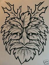 LARGE GREEN MAN Sticker/Decal   Occult/witchcraft/Spiritualist