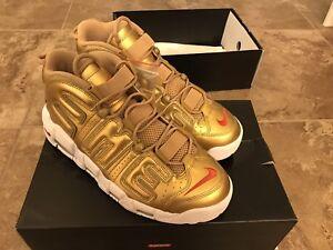 Nike Air More Uptempo Supreme Gold Size