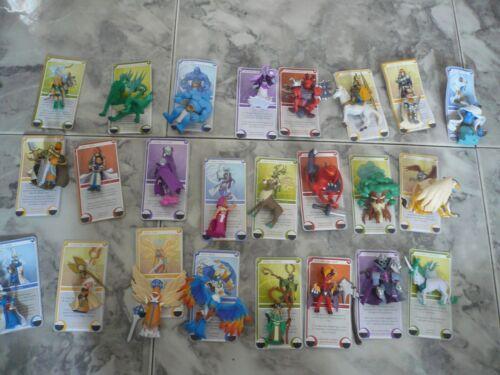 LOTE MIGHT /& MAGIC CLASH OF HEROES 24 MUÑECOS+24 CARTAS  5-8cm NUEVO