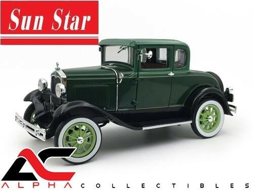 SUNSTAR SS-6133 1 18 1931 FORD MODEL A COUPE VALLEY verde