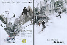 Reebok The Pump Wrapshear 2006 Double Page Magazine Advert #2801