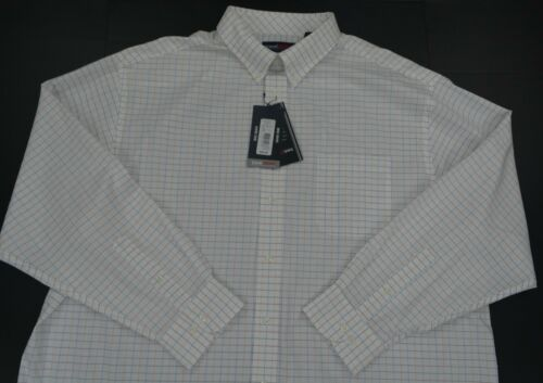 4XT NWT Men/'s Roundtree /& Yorke Button Front TravelSmart Long Sleeve Shirt S