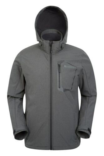 3XL Mountain Warehouse Mens Glover Softshell Waterproof Jacket in Dark Grey