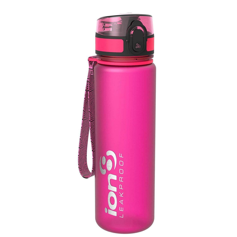 Ion8 auslaufsichere Schlanke Wasserflasche//Trinkflasche BPA-Frei 500ml//18oz