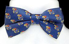 Kansas Jayhawks Mens Bow Tie Adjustable Neck University College Blue Bowtie New