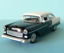 Free Shipping! HO 1:87 Scale Die Cast Car 1955 Chevy Bel Air Black/White Schuco