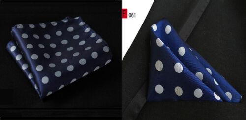 F126-B 52 Colors Mens Silk Handkerchief Pocket Square Polka Dot Floral Wedding