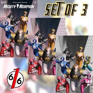 🚨💥 MIGHTY MORPHIN #1 JUNGGEUN YOON Exclusive Variant SET OF 3 Ltd 100 COA