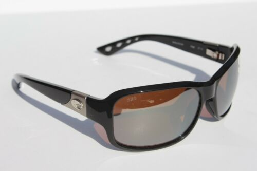 COSTA DEL MAR Inlet POLARIZED Sunglasses Womens Black//Silver Mirror 580G NEW
