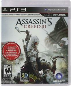 Assassin S Creed Iii Playstation 3 Ps3 Ebay