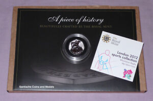2012 ROYAL MINT LONDON OLYMPICS SPORTS SILVER 50p COIN - WHEELCHAIR RUGBY