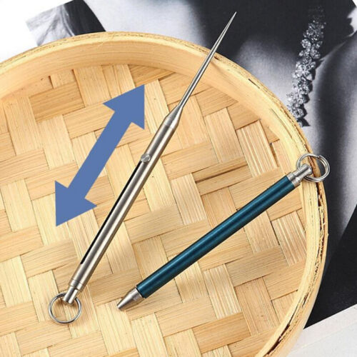 Titanium Alloy Push-pull Toothpick Holder Ultra Light Portable Multi-funct L/_D