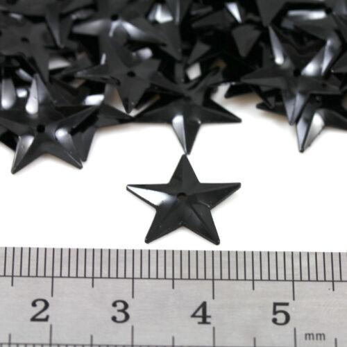 100g Star 15mm paillettes embellissements 11 Couleurs Couture Carte Artisanat parage