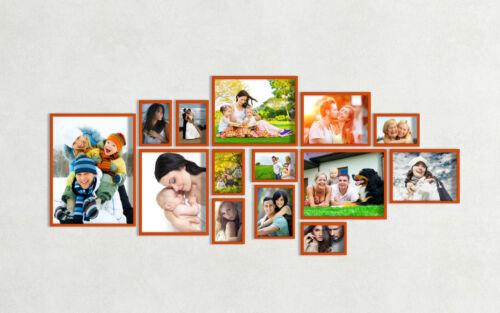 Holz Bilderrahmen 14er B Wandgalerie Bild Collage Rahmen Fotorahmen fotogalerie