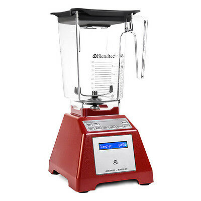 Blendtec Total Blender Classic Series WildSide+ Factory Reconditioned Red