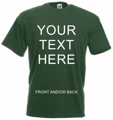 Custom Printed Personalised T-Shirts Tee Shirt Stag Hen Charity Run Free UK Post