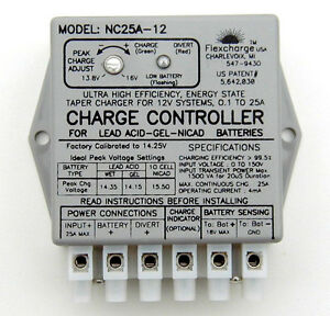 Flexcharge-NC25A-24-Solar-Wind-Hydro-Turbine-Charge-Controller-Hybrid-24-volt-US