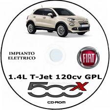 "Fiat 500X 1.4L T-Jet GPL (FCA) 500X.Manuale Officina ""IMPIANTO ELETTRICO"""